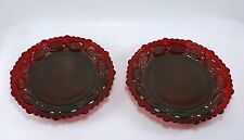 Avon Ruby Red Cape Cod Plates Set of 2 7 1/4""