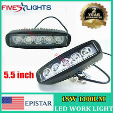 2X 15W LED WORK LIGHT BAR SPOT OFF-ROAD 4WD SUV BOAT MOTOR UTE DRIVING LAMP
