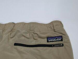 Patagonia Synchilla Winter Snow Ski Tan Nylon Pants Men's Size XXL Fleece lined