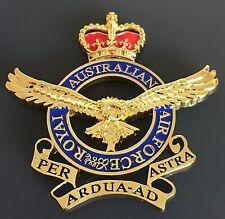 ROYAL AUSTRALIAN AIR FORCE RAAF CREST REPLICA + FREE Postage