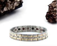 Authentic Pur life Negative Ion Bracelet ELEGANT TITANIUM SILVER & GOLD PURELIFE