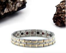 Authentic Pur life Negative Ion Bracelet ELEGANT TITANIUM SILVER & GOLD  ENERGY
