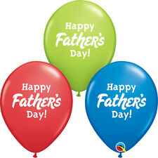"FATHER'S DAY PARTY SUPPLIES 10 x 11"" QUALATEX HAPPY FATHER'S DAY! LATEX BALLOONS"
