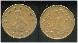 ZIMBABWE  1 cent 1980   ( etat )