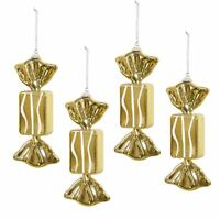 4 Pack of Christmas Tree Decorations Hanging Glitter Xmas Ornament Bauble Set