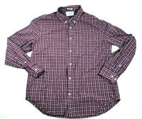 Mens Lucky Brand Large Button Up Plaid Long Sleeve California Classic Fit L
