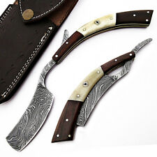 Damascus Steel Straight Razor Cut Throat Barber  Shaving