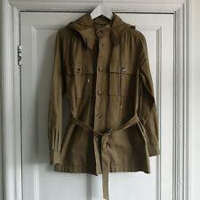 A.p.c APC Beige Safari style women's jacket size L with detachable hood