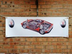 Maserati MERAK SS  large pvc banner  garage  work shop car show