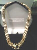 14K  ROSE GOLD & STS BIG FLEX LCS DIAMOND  BUCKLE NECKLACE + BONUS! 19 INCH