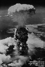 NAGASAKI MUSHROOM CLOUD ~ 24x36 ATOMIC HISTORY POSTER ~ NEW/ROLLED