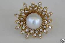 Unique 7.28K DIAMOND and PEARL 18K Yellow Gold RING by ZYDO Italy