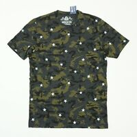 American Rag Mens Tee Camo Star Graphic T Shirt Gray Black Green Camo