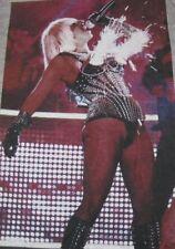 New Ladies Lady Gaga Poker Face Sparkling Bustier Awards Tank Stye T Shirt