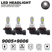 4x 9005 9006 LED Combo Headlight Bulb For Silverado 1500 2500 HD 3500 03-06