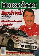Motor Sport Mar 1995 - Mansell joins McLaren, Daytona 24 Hours, Monte Carlo Rall