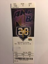 TAMPA BAY RAYS VS BALTIMORE ORIOLES  SEPTEMBER 8, 2018 TICKET STUB