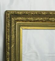 "ANTIQUE FITS 10"" X 12""  GOLD GILT DEEP ORNATE WOOD VICTORIAN ART FRAME"