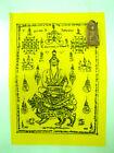 Phra Rod Pha Yant Lersi Talisman Cloth Manuscript Mantra Thai Buddha Amulet