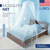Bed Mosquito Netting Mesh Elegant Lace Canopy Princess Round Dome Bedding Net US