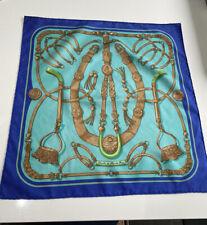 Hermes Silk Pocket Square Gavroche Gaucho By Caty Latham Lightly Used