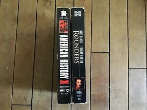 2 VHS Movies. American History X and Rounders.