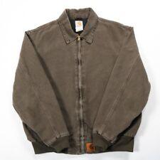 Très bon état vintage Carhartt brodé corvée Veste   Homme L   manteau canard en toile rétro