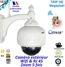 Caméra  Wifi extérieure - Puissant Zoom x5 - Vision de nuit - Connectée