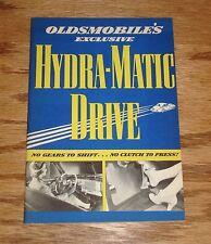 Original 1940 Oldsmobile Exclusive Hydra-Matic Drive Sales Brochure 40