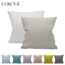 CURCYA Solid Plain Cushion Cover Polyester Sofa Chair Wasit Pillow Cases Covers
