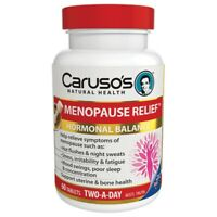 Caruso's Menopause Relief 60 Tablets Hormonal Balance Hot Flushes Sweats Carusos