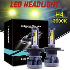 2X H4 9003 LED Headlight 110W 22000LM Kit 3000K Yellow  High Low Beam Bulb