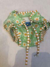 Kushies Baby Medium Swim Diaper Floral Green Girls