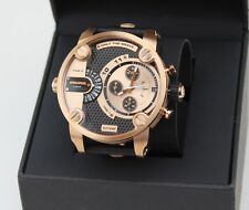 NEW AUTHENTIC LIMITED DIESEL MR. LITTLE DADDY ROSE GOLD BLACK MENS DZ72982 WATCH