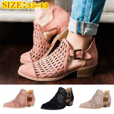 Low Heel Closed Pointed Toe Boot Summer Sandals Flat shoes Comfortable US JR15