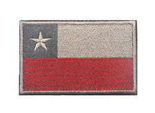 CHILI FLAG CHILEAN MILITARY TACTICAL ARMY MORALE EMBROIDERED HOOK LOOP RED PATCH