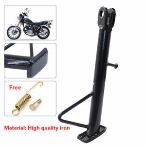 Black Motorcycle Electric Bicyle Kickstand Side Stand Bracket Leg Prop Universal