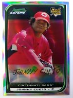 2008 Bowman Chrome Refractor Johnny Cueto Rookie RC #217, Cincinnati Reds