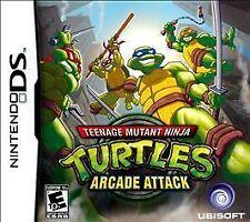Teenage Mutant Ninja Turtles Arcade Attack GAME Nintendo DS DSI XL LITE TMNT 3 2