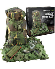 Kids Army Outdoor Adventure Kit - Camouflage Den Kit - Army Children Roleplay