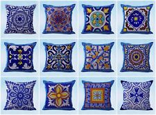 US Seller-10pcs decorative pillows and cushion covers Mexican Spanish talavera