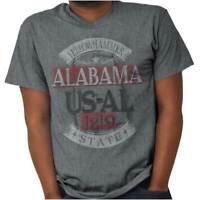Traditional Alabama US State Pride Tourist AL Adult Short Sleeve Crewneck Tee