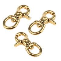 3x Brass Lobster Claw Clasps Clip Snap Hook Bag Crafts Stuffs Accessories