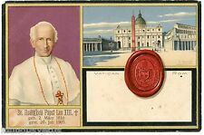 RELIGION. VATICAN. ROME. LE PAPE LEON XIII. LEO. R. HEINEKE