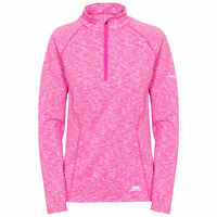 Trespass Womens Long Sleeve 1/2 Zip Pullover Gym Top Active Workout Olina
