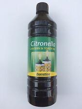 PREMIUM CITRONELLA OIL 1 LITRE OUTDOOR OIL FOR ALL TORCHES LAMPS & FLARES BA