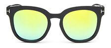 Mohawk Ladies Oversize Designer Sunglasses Black & Yellow Mirror Lens UV400 Y54