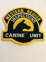 OLD INS WESTERN REGION INSPECTIONS K-9 PATCH NO LONGER AN AGENCY RARE PATCH
