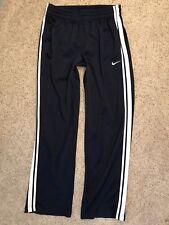 Nike Athletic Running Warm Up Workout Lounge Basketball Zip Blue Pants Sz Large