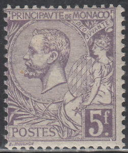 Monaco Hinged  Sc # 28  SIGNED Value $ 200.00